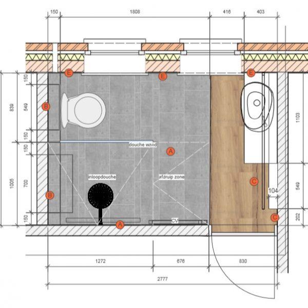 Project Renoconcept: Ruimte optimaliseren. Plan volledige badkamer.